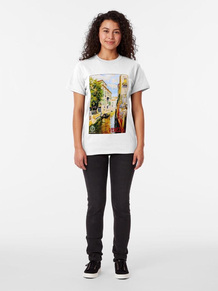 Alternative Ansicht von Venedig-Kanäle; Vintage Reise Werbung drucken Classic T-Shirt