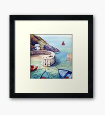 Porthgain Harbour, Pembrokeshire, Wales. Framed Print