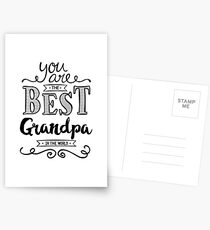 You are the best Grandpa in the World Postcards
