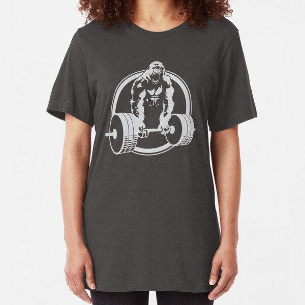 Gorilla Lifting Fitness Gym Tee Slim Fit T-Shirt