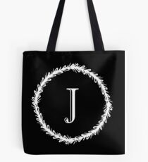 Monochrome Monogram J Tote Bag