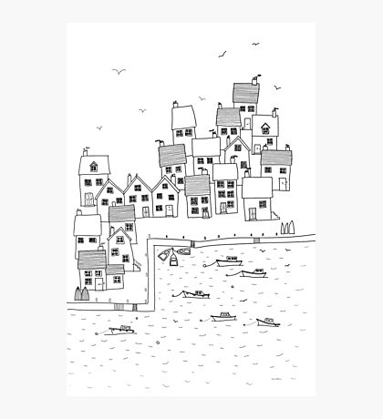Harbour Sketch Photographic Print