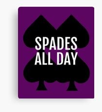 Spades All Day Lucky Deck of Cards Canvas Print
