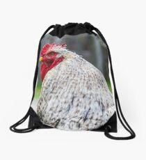 Cochin chicken closeup Drawstring Bag