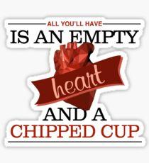 Empty Heart Sticker