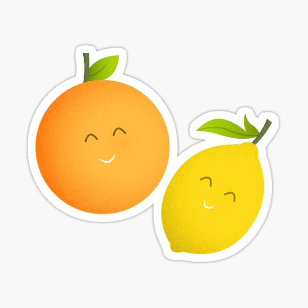 Happy Orange and Lemon Sticker