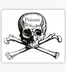 poison skull Sticker