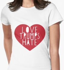 love trumps hate Women's Fitted T-Shirt