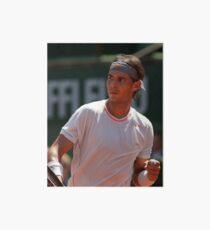 Rafael Nadal Tennis Champion  Art Board