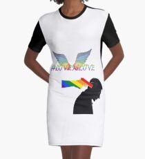 #LoveIsLove Graphic T-Shirt Dress