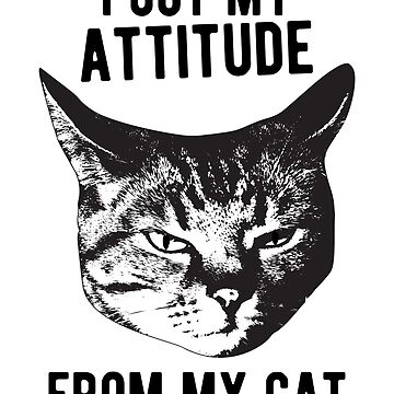 I got my attitude from my cat by MustLoveAnimals