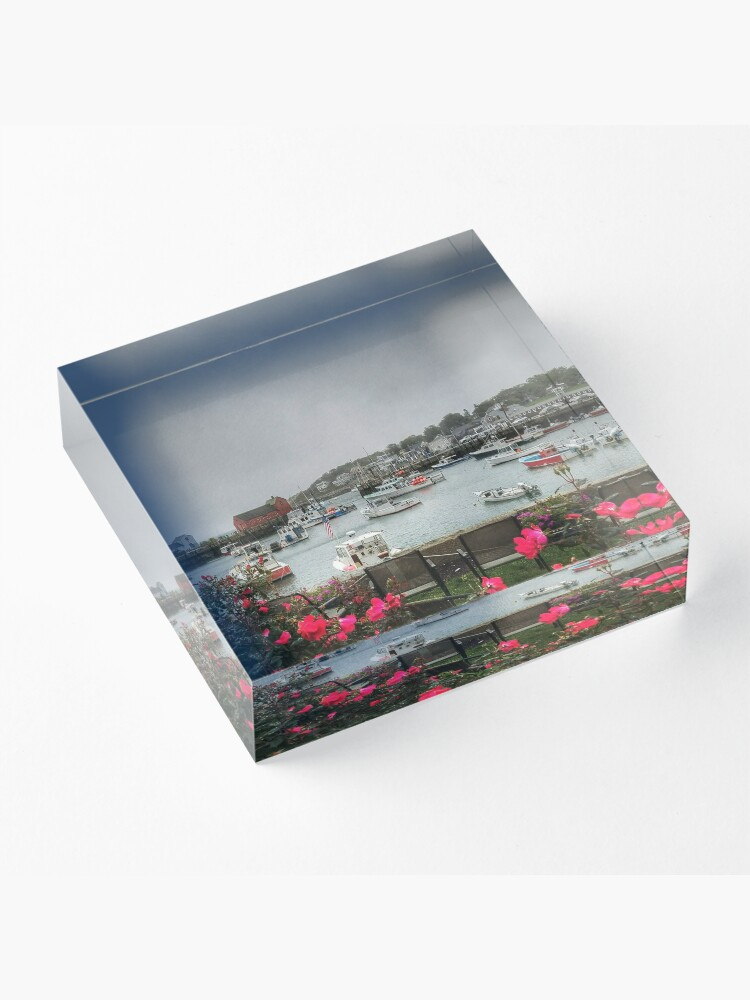 Alternate view of Rockport and Roses Acrylic Block