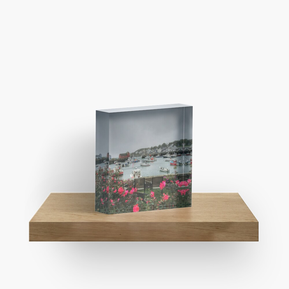 Rockport and Roses Acrylic Block
