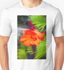 Canna Lily Red Exotic Tropical Plant T-Shirt