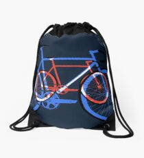Fixed Gear Road Bikes – Blue, Purple and Red  Drawstring Bag