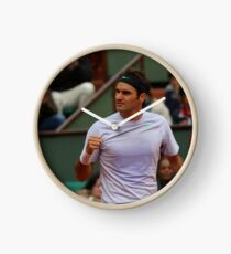 Roger Federer Tennis Champion   Clock