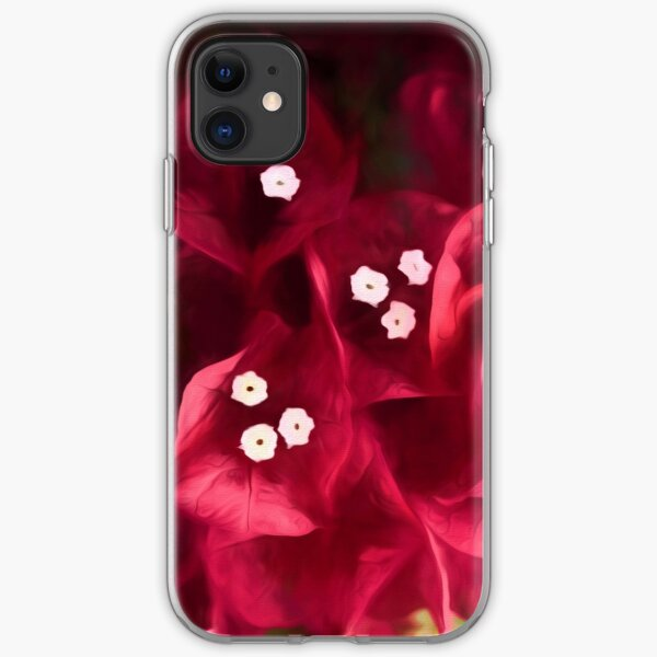 Red Bougainvillea Flowers iPhone Soft Case