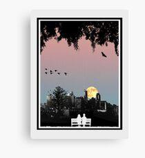 Dornoch Terrace Moonrise Canvas Print