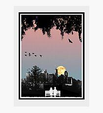 Dornoch Terrace Moonrise Photographic Print