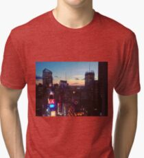 New York City (NYC) Times Square Ball at Sunset Tri-blend T-Shirt