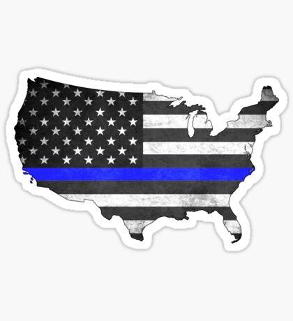 e807369f9a United States Silhouette Thin Blue Line Sticker