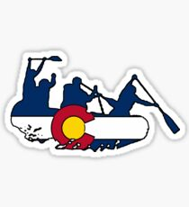 Colorado flag rafting group Sticker