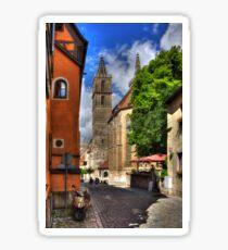 Towers of St Jakobskirche Sticker