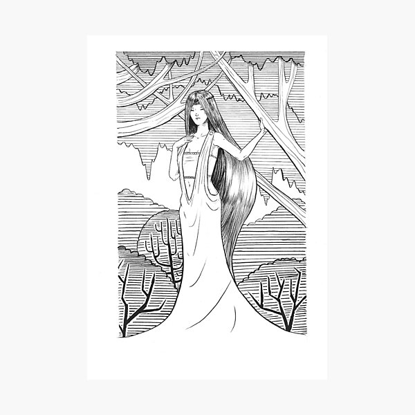 Lady of the Woods Photographic Print