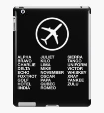 The Phonetic Alphabet with a picture of an airplane. iPad Case/Skin