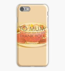 Thank you Mum poem on photograph of classic tea cup iPhone Case/Skin