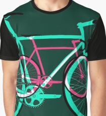 Fixed Gear Road Bikes – Green and Pink Graphic T-Shirt