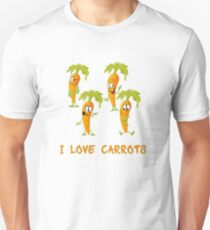 I love carrots, funny vegetables design, gift idea T-Shirt