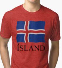 Iceland flag Tri-blend T-Shirt