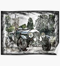Oldtime English Touring Car Poster