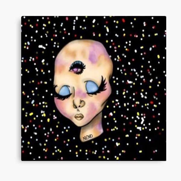 Space Girl! Canvas Print