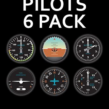 Pilots Six Pack. by AviationMerch