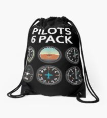 Pilots Six Pack. Drawstring Bag