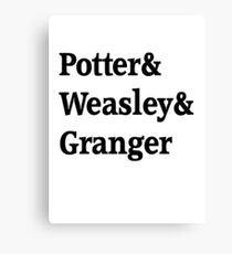 Potter, Weasley, Granger Canvas Print