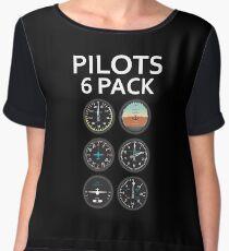 Pilots Six Pack Airplane Instruments Chiffon Top