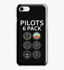 Pilots Six Pack Airplane Instruments iPhone Case/Skin
