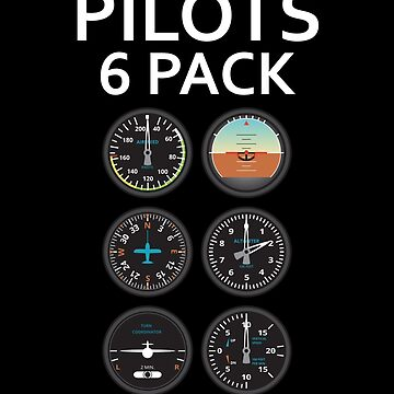 Pilots Six Pack Airplane Instruments by AviationMerch
