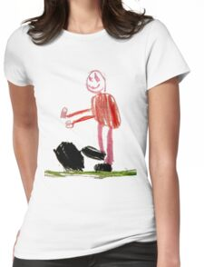 Football player Womens Fitted T-Shirt