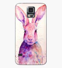 Watercolour rabbit portrait Case/Skin for Samsung Galaxy
