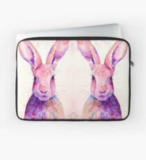 Watercolour rabbit portrait Laptop Sleeve