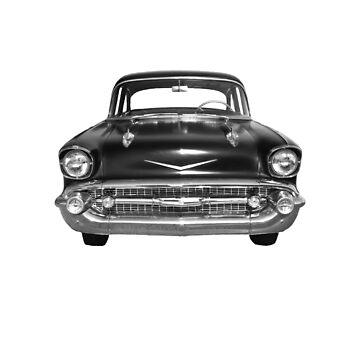 57 Chevy - Front - Monochrome by seansdigitalart