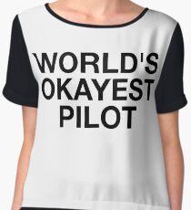 World's Okayest Pilot Chiffon Top