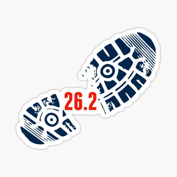 26.2 Full Marathon Running  Sticker