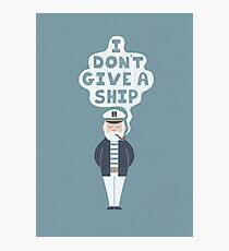 Indifferent Captain Photographic Print