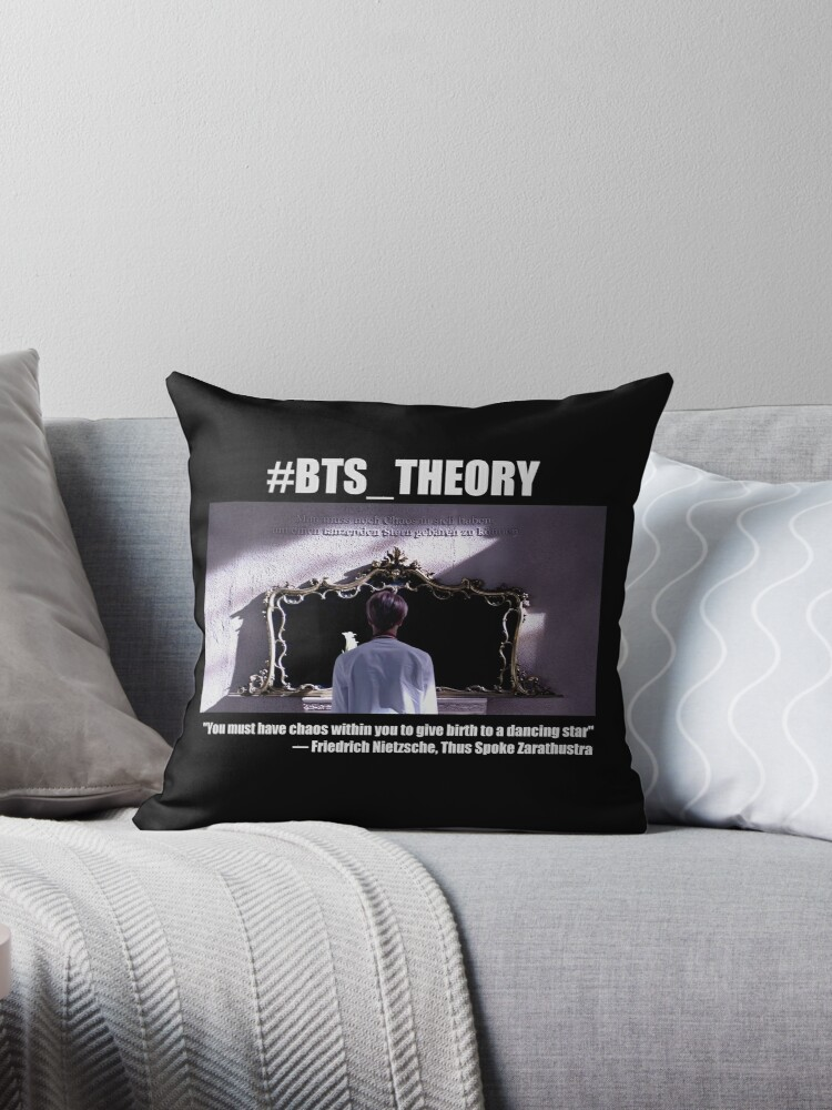 'BTS Theory: Nietzsche quote' Throw Pillow by angelscreations