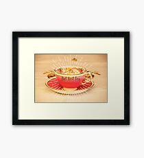 But first Tea, quote on gift ware and home ware. Framed Print